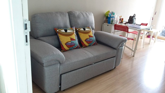 โซฟาเบด โซฟาปรับนอน โซฟา2ที่นั่ง โซฟาผ้า Sofabed โซฟาสีเทา