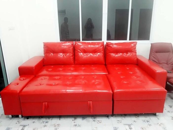 โซฟาเบด โซฟา โซฟาเบดขนาดใหญ่ โซฟาเบดหนัง โซฟาปรับนอน sofabed โซฟาเบดสีแดง
