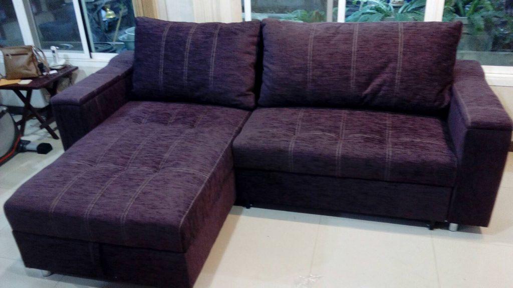 โซฟาเบด โซฟาปรับนอน โซฟาผ้าสีม่วง โซฟาสวยๆ sofabed