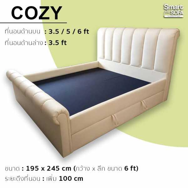 เตียงนอนแบบมีลิ้นชัก (รุ่นโคซี่)