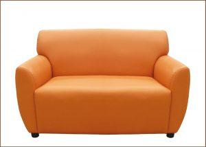 โซฟาหนังสีส้ม